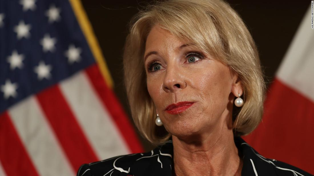 Betsy DeVos sued for seizing wages from student loan borrowers during pandemic