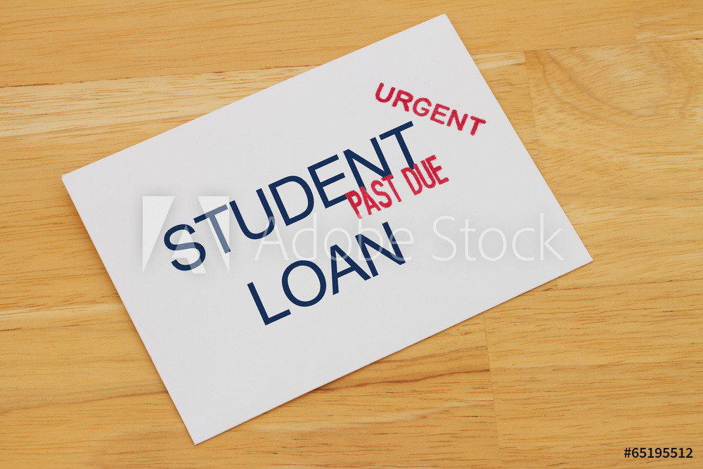 Student Loan Payment Past Due - Acquista questa foto stock ed esplora foto simili in Adobe Stock
