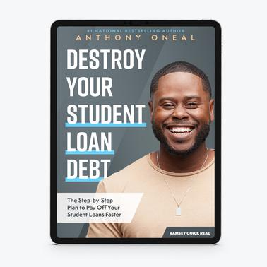 New Destroy Your Student Loan Debt By Anthony Oneal E Book