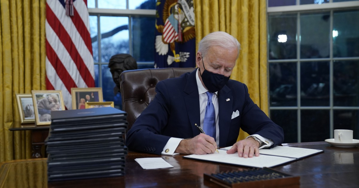 Biden's executive orders will extend student loan pause, rejoin WHO, stop border wall construction