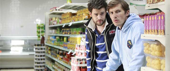 Fresh Meat characters in a supermarket