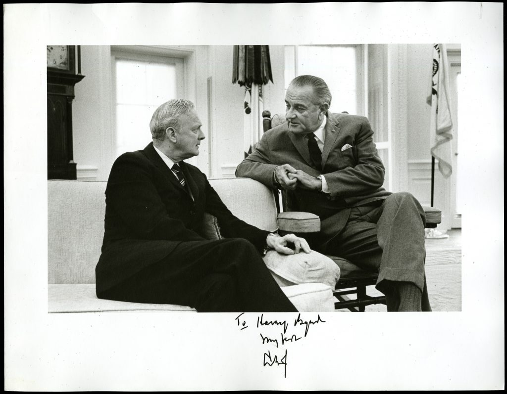 Senator Harry F. Byrd Jr. and President Johnson